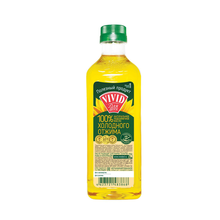 Unrefined sunflower oil in PET bottle