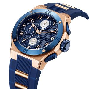 Custom Logo 10ATM Water Resistant Chronograph Wrist Watch Japan Movement Luxury Watches OEM Man Sport Watch
