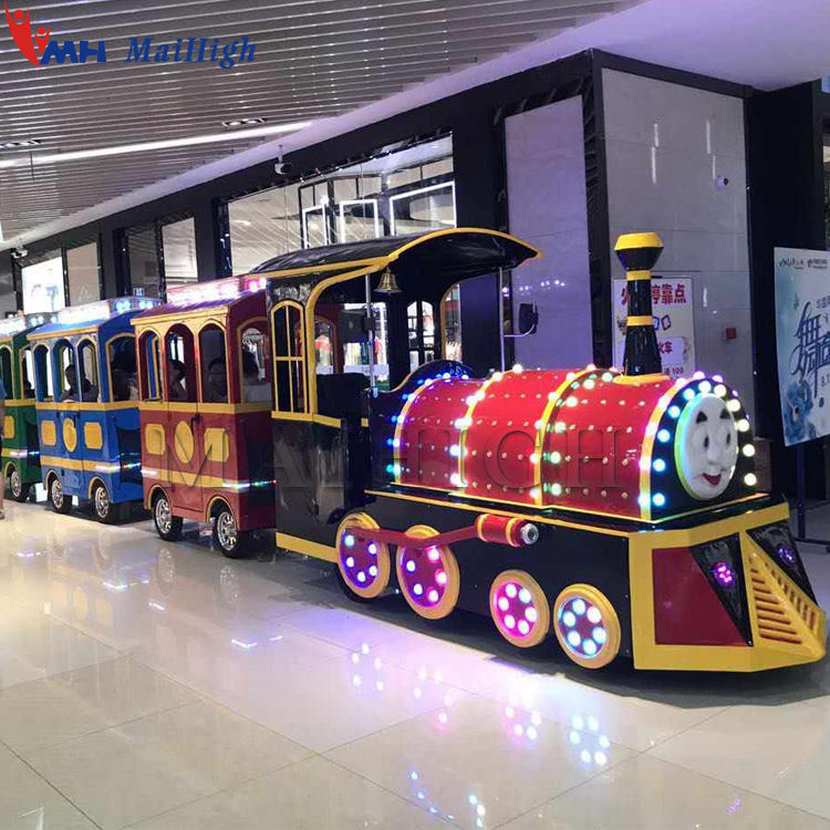 Shopping mall electric trackless train for sale