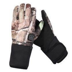 Camouflage Full Finger Warm Windproof  Non-slip Palm  Archery Acces Heated Hunting Gloves