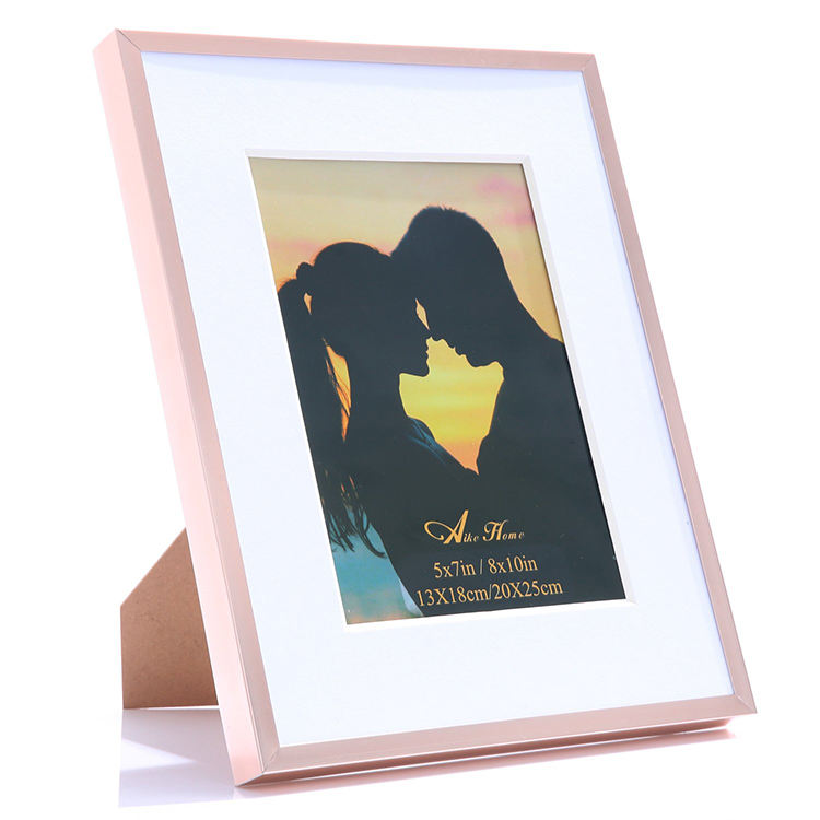 "Wholesales Photo Frame +5*7 8*10"" Metal Photo Frame+ Love Picture Gold Metal Frame"