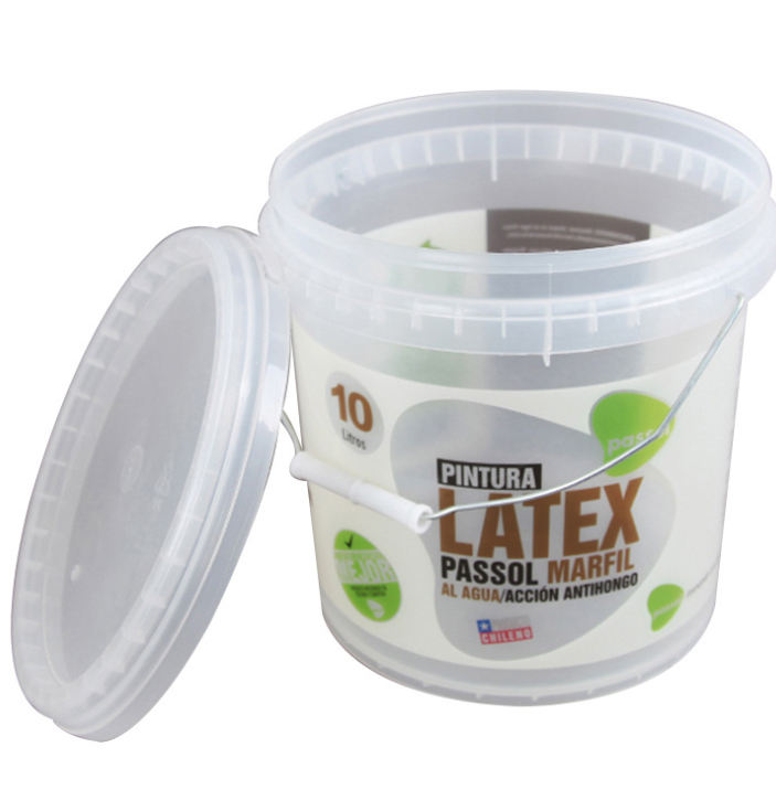 Food Grade Small PP Transparent Plastic Bucket With Handle And Lid