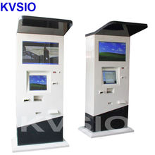 Store machine self service kiosk storaged touch screen with keyboard