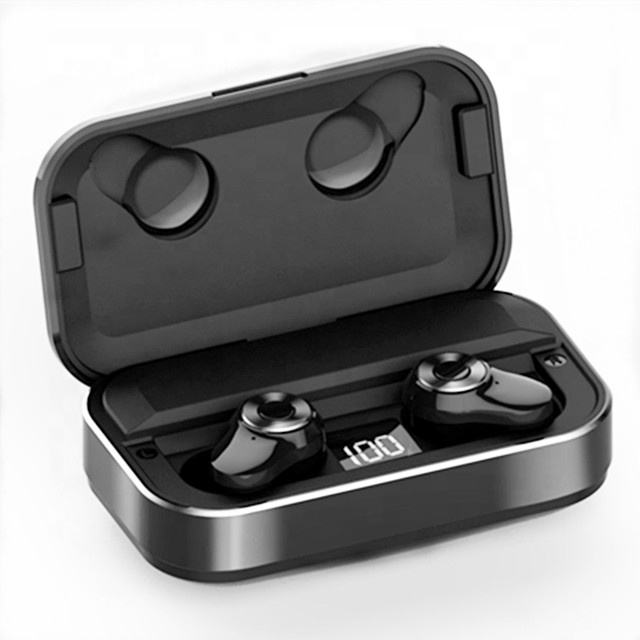 tws blue tooth 5.0 earphones tws wireless earbuds,wireless earphone for mobile phones LED power display charging box