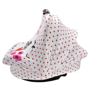 New Printed Design Stretchy 4 in 1 Baby Car Seat Cover Girls Stroller Sunshade Cover Canopy