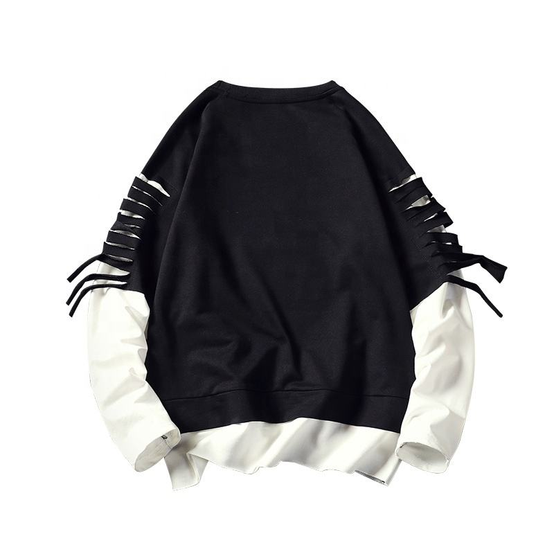 Knitted Pullover Men Sweater wholesale mend hoodie long sleeve streetwear plain LOGO sweatshirt