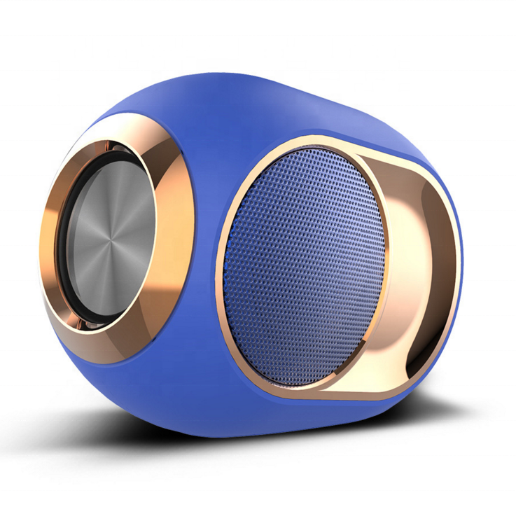 X6 TWS Audio Card Aux Outdoor Golden Portable Mini Music Wireless Metal Blue tooth Waterproof Speaker