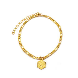 Fashion Design Initial Anklet Bracelet Foot Chain Jewelry Le