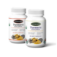 Lifeworth joint pain relief turmeric and black pepper cbd soft capsules
