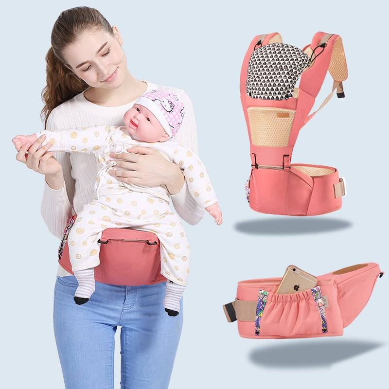 wholesale baby sling comfortable positions ergonomic portable baby carrier breathable multifunctional