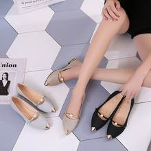 HLS036 ladies luxury designer high quality china casual office flat shoes