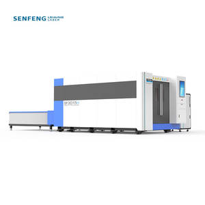 SENFENG full cover iron steel laser cutting machine cnc fiber 4000w/6000w with exchange table 3015