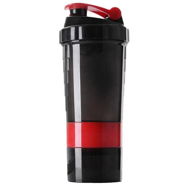 Wholesale Custom 500ml Plastic Protein Shaker Gym Fitness Shaker Bottle