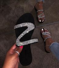 2019 hot sale bling crystal women sandals slippers