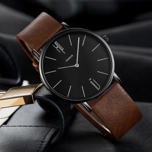 YAZOLE D 506 Brand luxury mens watches hot sales 2020 minimalist custom quartz watches leather wristwatches private label watch