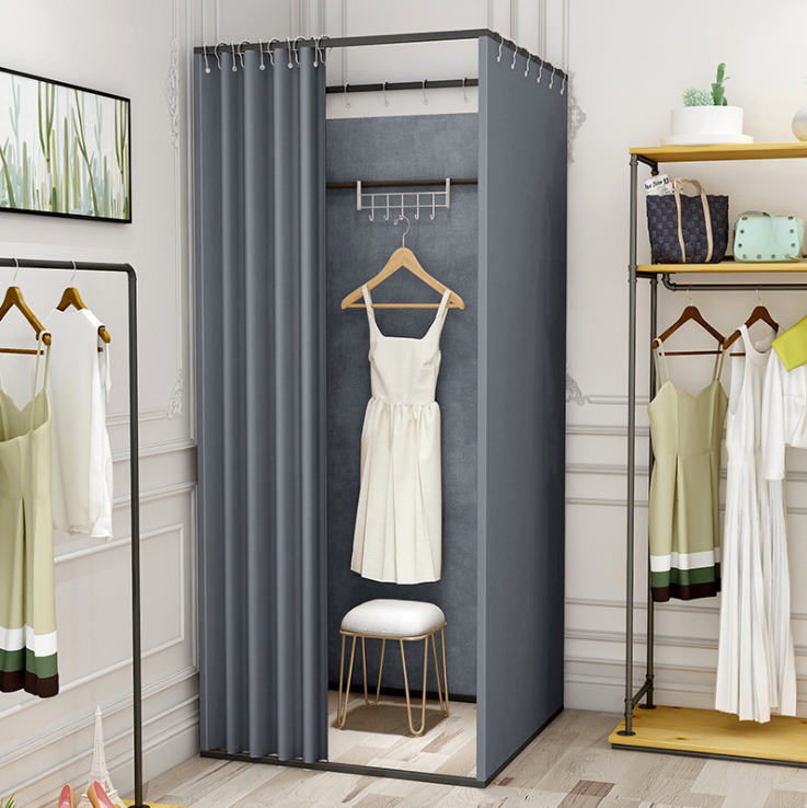 Portable POP UP Fitting Room Movable Changing Room Retail Change Clothes Room