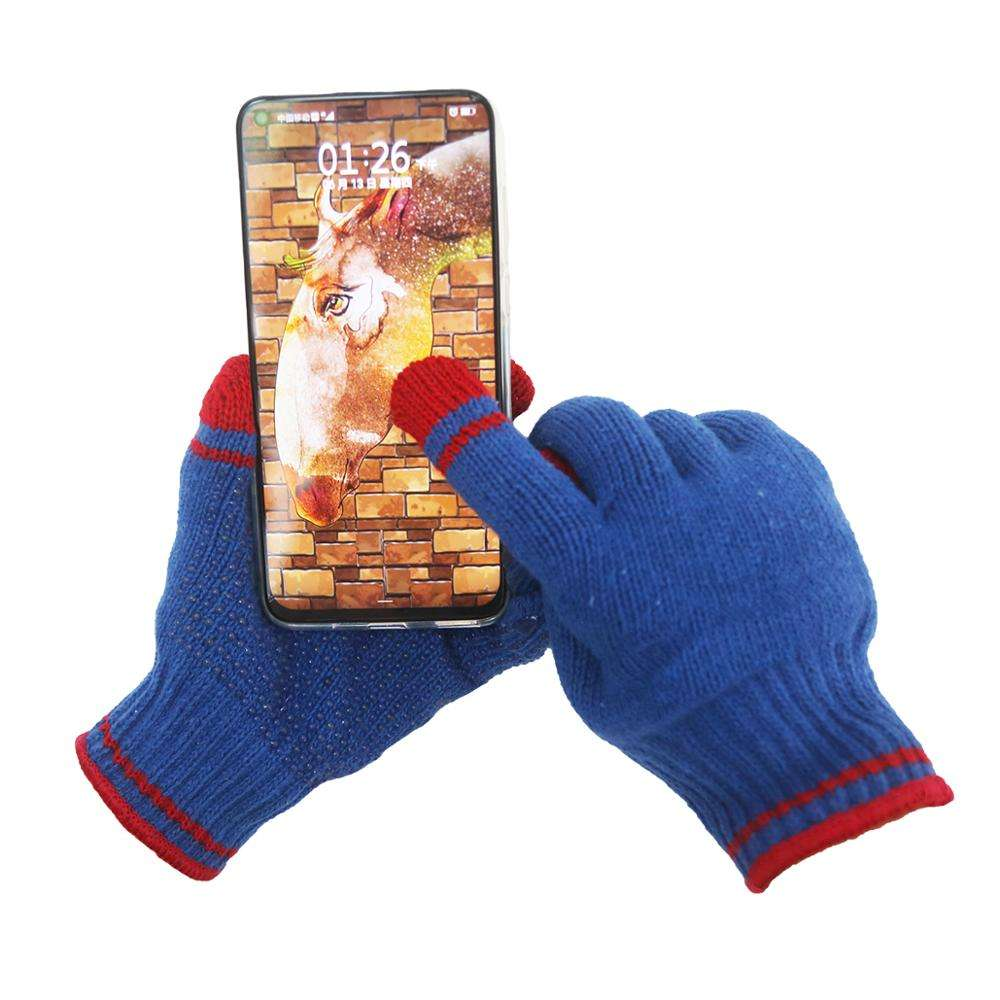 Wholesale Cotton Dotted Knitted e-products Touch Screen Gloves