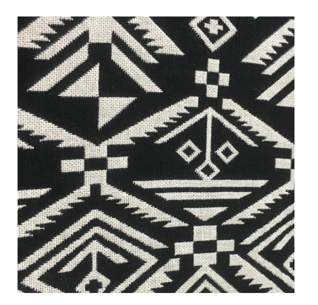 Custom Design Double Faced 100% Polyester Woven Jacquard Fabric With Abstract Geometric Pattern