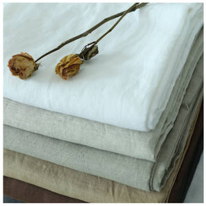 Wholesale Manufacturers French Bed Linen Washed White Pure 100 Linen Fabric for Dress