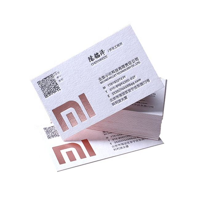 winnus factory custom printing fashion design luxury rose gold foil stamping business cards
