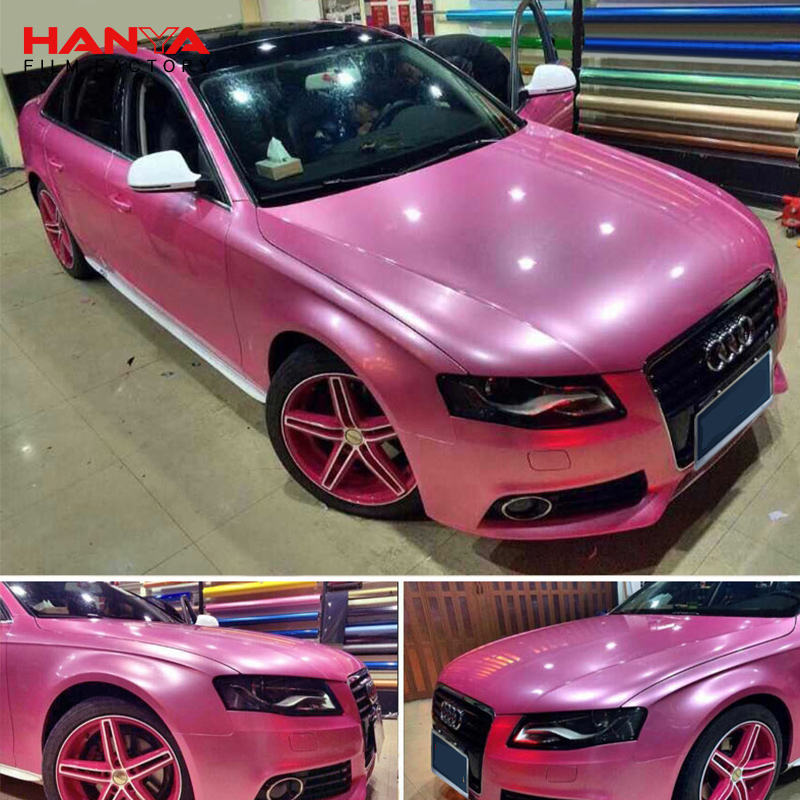 HANYA Wholesale Factory Price Chrome Pink Vinyl Car Wrap