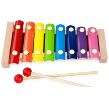 YOBANG Wooden 8-note Xylophone Children's Interactive Toy Kids Hand Knock Piano Learning Musical wooden music toys for kids