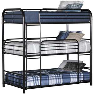 SW-B04 cheap steel frame 3 tier metal triple bunk beds sale