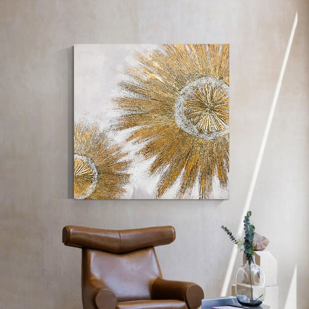 Home goods abstract wall art metal color embellishments
