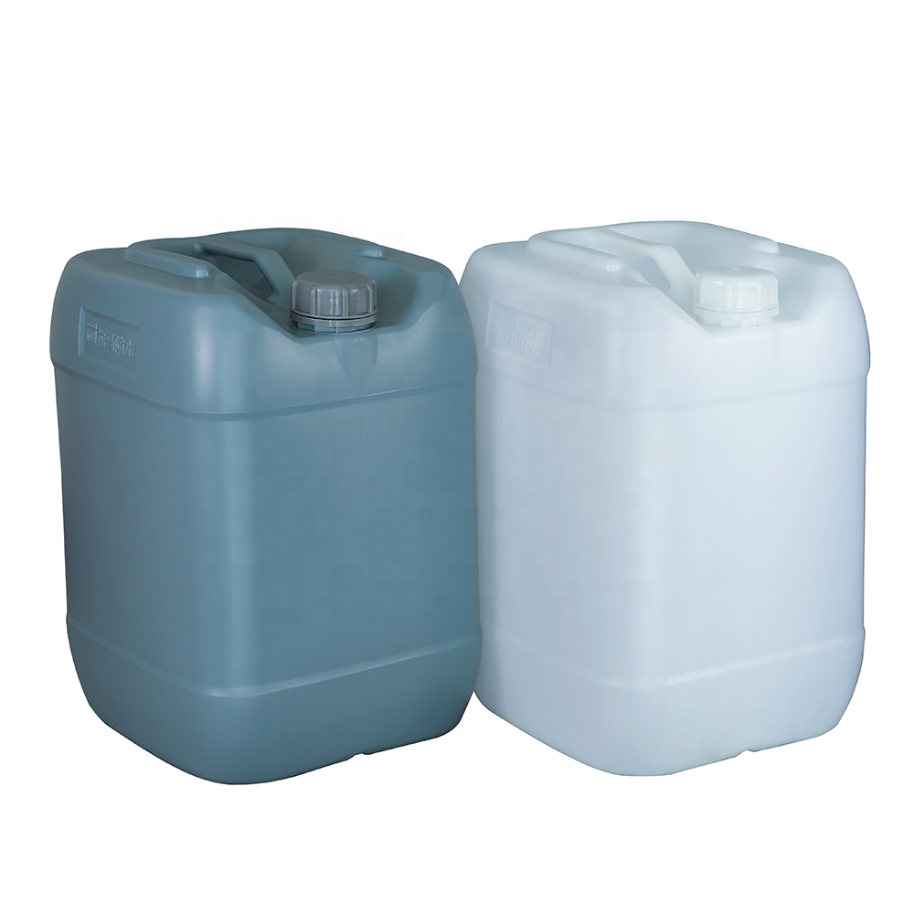 25L plastic barrel food grade square jerry can HDPE 25 litre chemical drum translucent 25 KGS bucket container in stock
