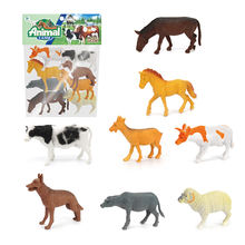 Kids safety indoor play hollow PVC toy plastic farm animals