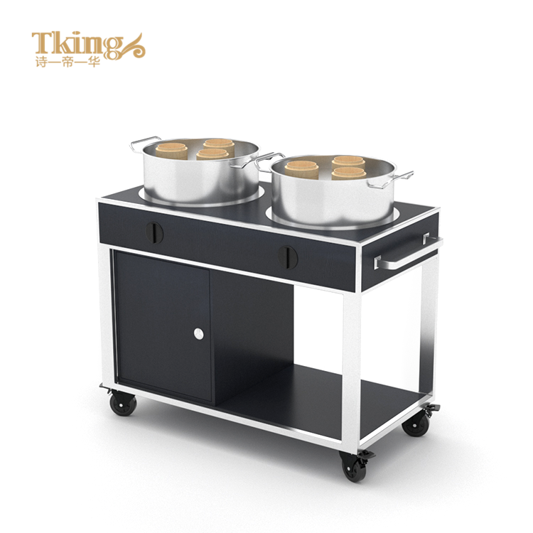 Hotel Service Trolley Wholesale Price Custom Stainless Steel Hotel Restaurant Food Service Trolley For Hotel
