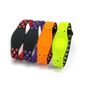 Identification Adjustable Waterproof Silicone FM1108 S50 13.56Mhz NFC RFID Wristbands card