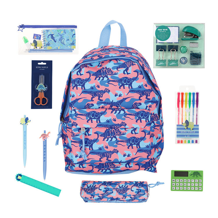 Back To School Essentials Dinosaur Stationery Set For Children School Supplies Kit Great Bundle Includes Essentials Supplies