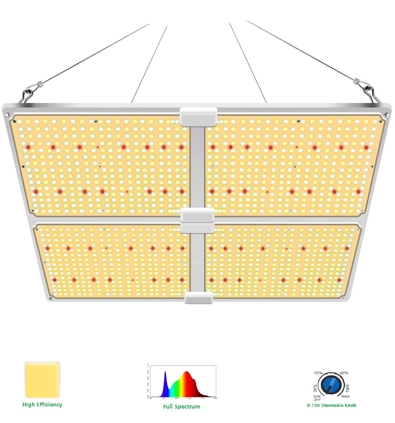 $10 OFF USA Stock Farmer Samsung Lm301b 480W Dimmable Full Spectrum Waterproof Led Grow Light for Indoor Plant