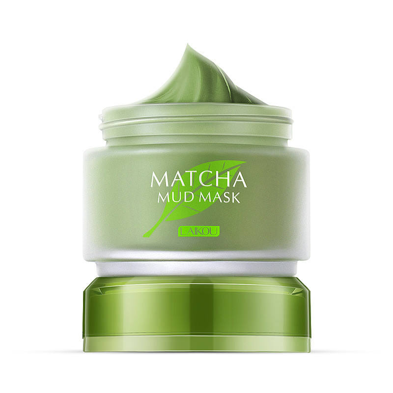 LAIKOU Matcha Mud Mask Moisturizer Oil Control Green Tea Color Face Cream Deep Cleaning Natural Hydrating Mask