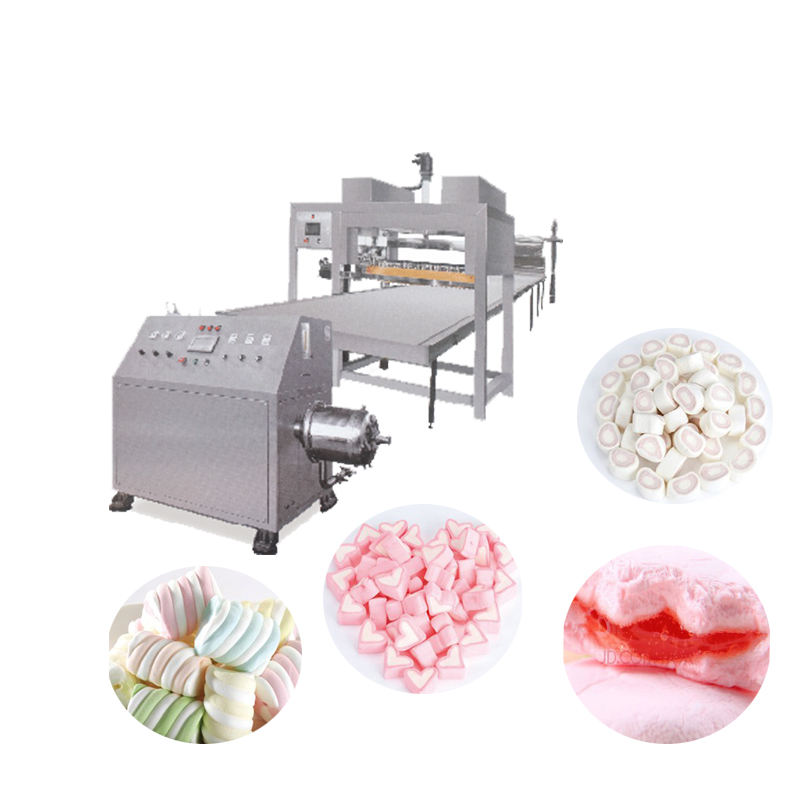 Continuous aerator Muslim Halal white columnar extruding marshmallow cotton candy production line