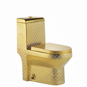 New golden sanitary ware washdown one piece toilet bowl