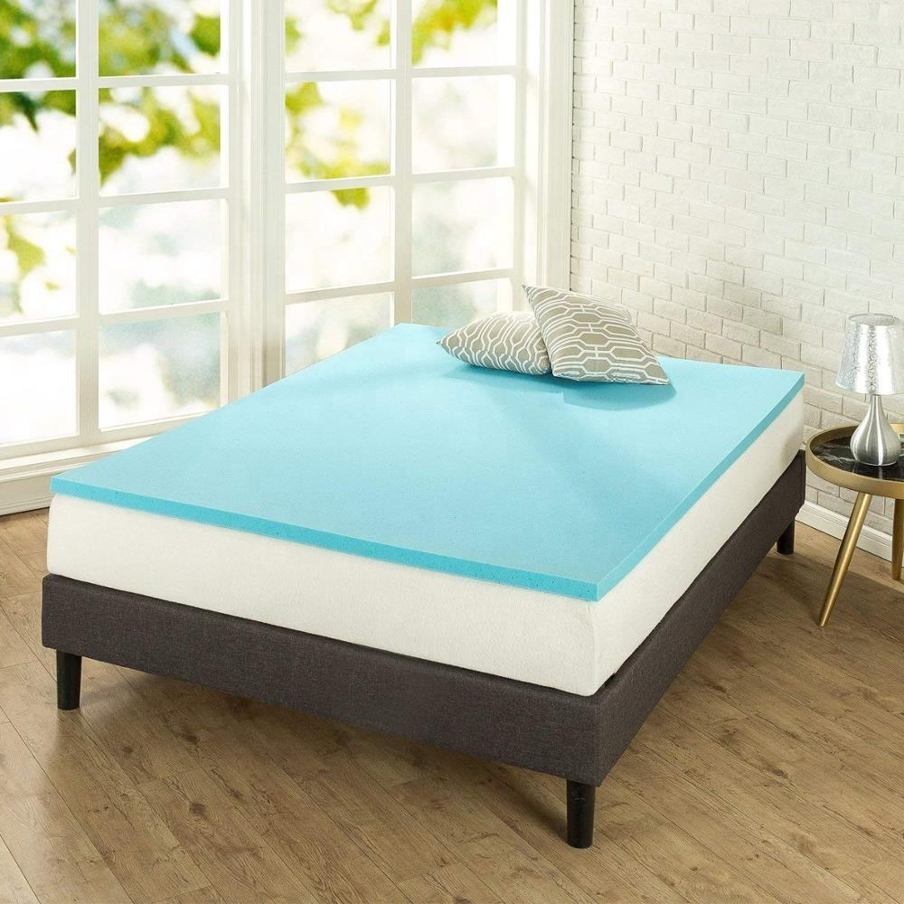 Memory foam mattress with cooling gel topper 3 inch