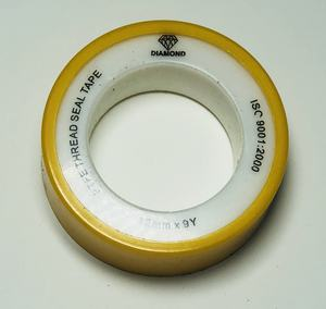 american style popular printing ptfe seal tape with yellow spool