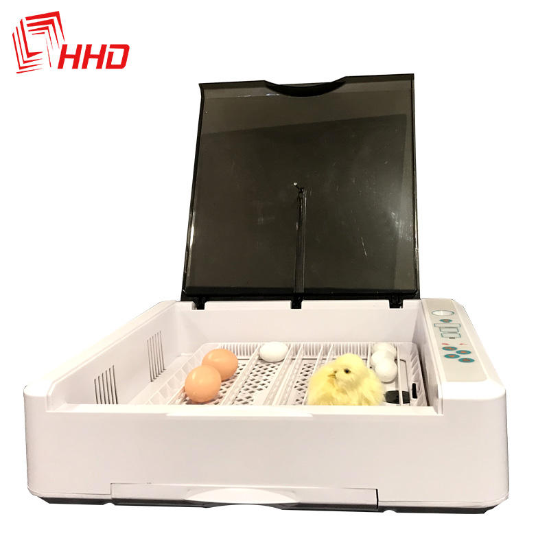 ABS material LED egg testing full automatic 36 chicken egg incubator hatching machine