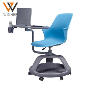 disc tripod base mobile table arm chair multipurpose seating classroom training tablet PC chairs with table