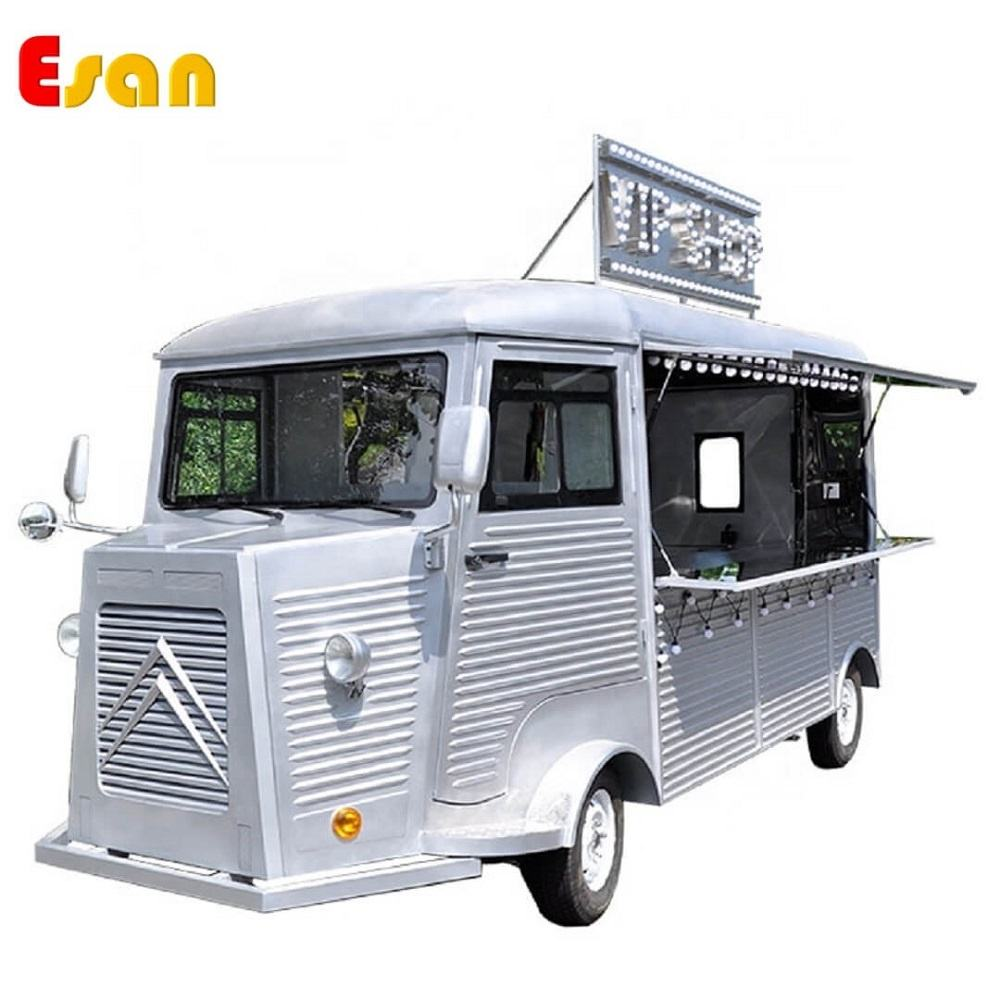 Esan CT4800 electronic retro food vans fully equipped moto food truck