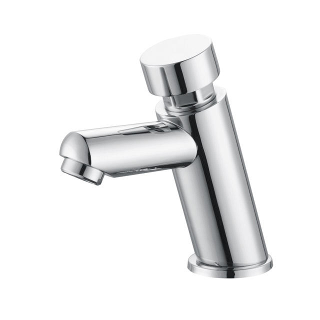 Factory time delay self-closing brass chrome wash basin tap faucet
