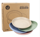 Unbreakable 9 Inch Wheat Straw Healthy Plastic Plates dinner plate sets for snacks and fruits