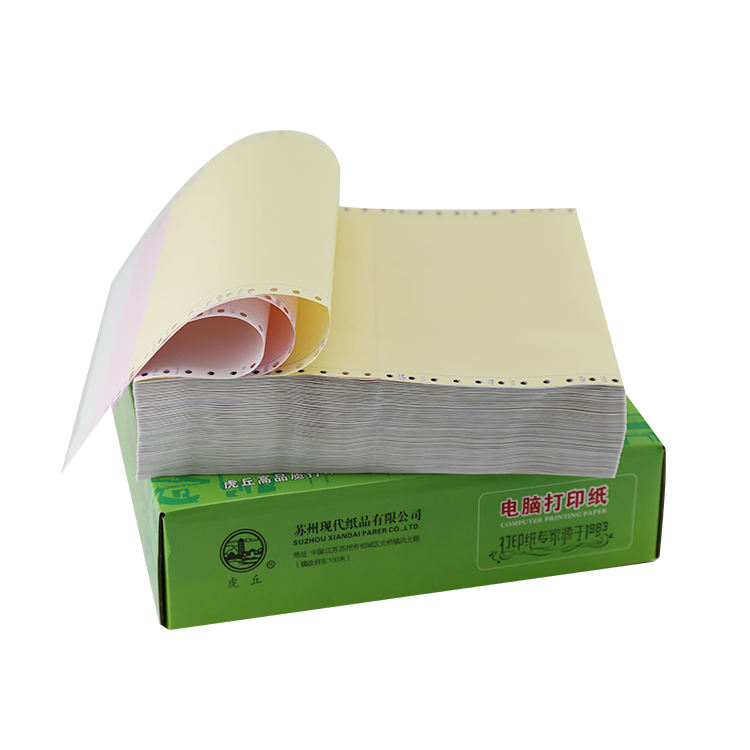 carbonless continuous printing paper computer form with high quality