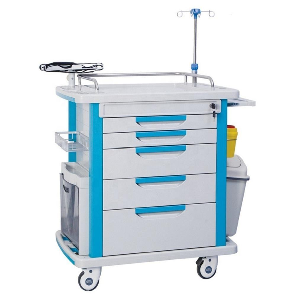 Hospital ABS Medical Emergency Trolley For Sale