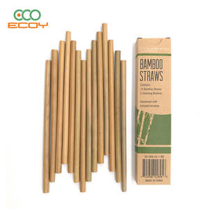 Biodegradable Wholesale Price Customized Logo Reusable Bamboo Straw