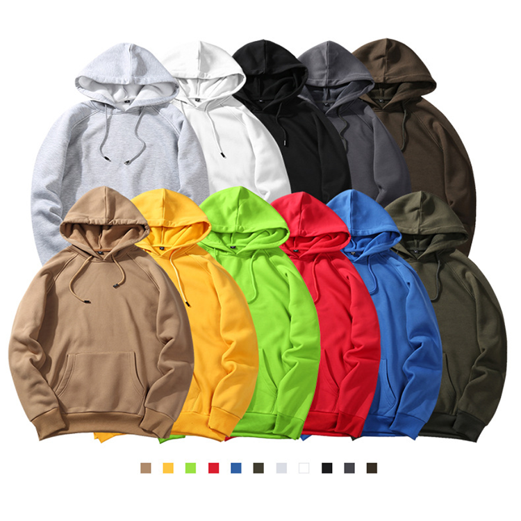 Custom logo European and American hooded sweatshirt 50% cotton 50% polyester long sleeve printed oversized pullover