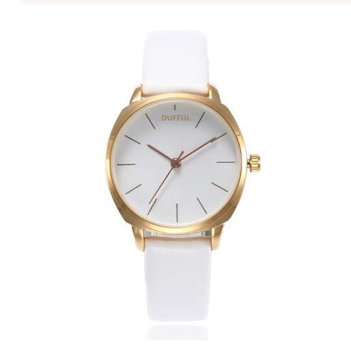 Casual Lederen Band Dames Horloges Japan Beweging Quartz Horloge Analoog Dial Horloge