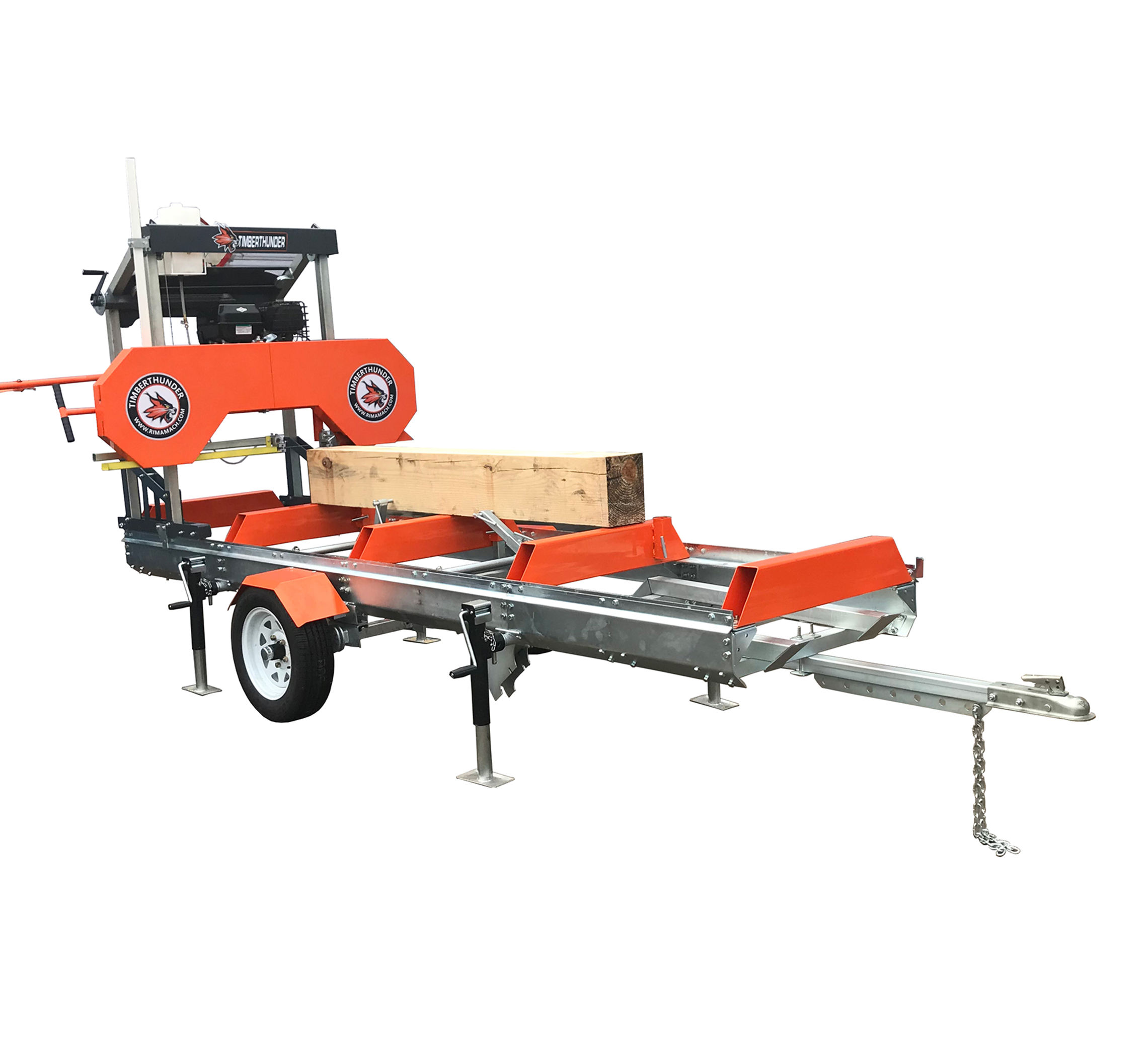Horizontal Band Saw Mobile Sawmill MJ1000E for Cutting Wood to Planks By Electric Control